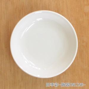 中皿 メタ玉14cm深皿 白 新中華 中華食器 業務用 美濃焼|shikisaionline