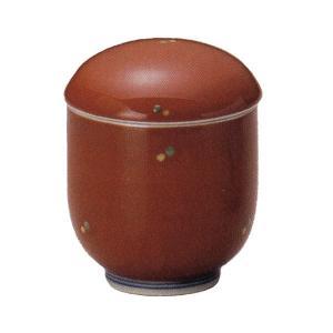 茶碗蒸し 朱巻グリーン水玉小むし椀 おしゃれ 和食器 業務用 有田焼 9a157-23-93g|shikisaionline