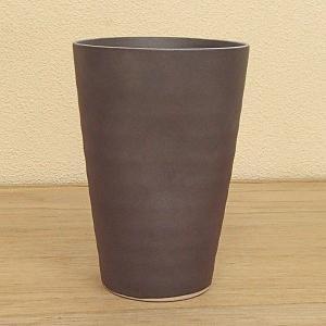 陶器フリーカップ 鉄釉 500cc 業務用 酒器 美濃焼 5a421-7-20e