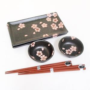 食器セット 箸付 桜の舞 だんらんセット 箱入り ギフト プレゼント 8a100-51