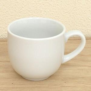 マグカップ 白厚口コーヒー碗 カフェ 食器 業務用 美濃焼 7a787-25-32f