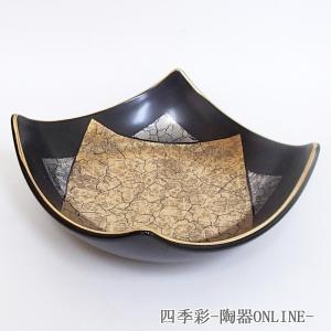 角刺身鉢 黒釉金彩 刺身皿 業務用 美濃焼 9b019-23