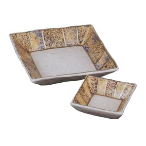 刺身皿 醤油皿 セット 紫金十草 角刺身皿 角千代口 業務用 和食器 9b021-35-36