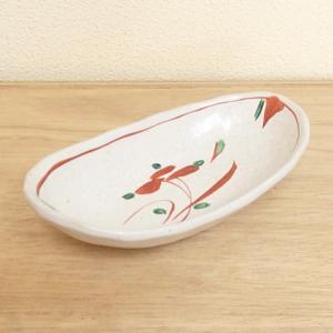 刺身皿 楕円向付 昔小花 業務用 美濃焼 6b026-05...