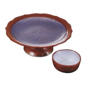 刺身皿 醤油小皿 セット 朱巻紫野 高台向付 丸千代口 業務用 和食器 36Q019-11-12