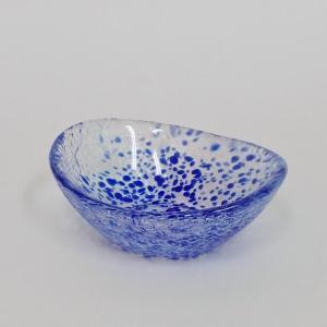 小鉢 変り千代口 ブルー ガラス製 おしゃれ 和食器 業務用 9b096-19|shikisaionline