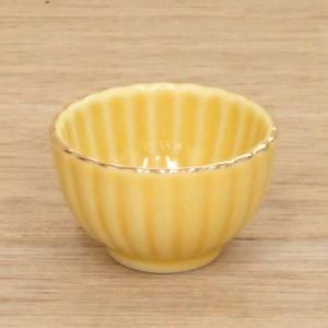 小鉢 ミニ珍味 黄菊型 おしゃれ 和食器 業務用 9b102-20|shikisaionline