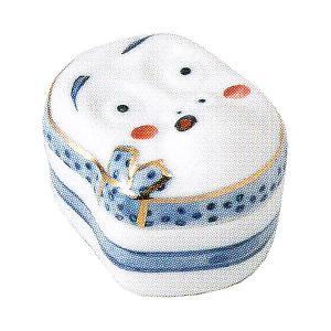 小鉢 蓋付珍味 染錦ひょっとこ おしゃれ 和食器 業務用 美濃焼 9b100-22|shikisaionline