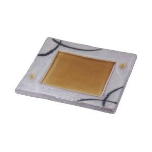 中皿 前菜皿 正角皿 土の香 18.5cm 和食器 美濃焼 業務用 9b127-15