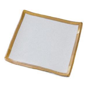 中皿 18.5cmプレート 正角皿 金彩 和食器 業務用 美濃焼 9b133-05