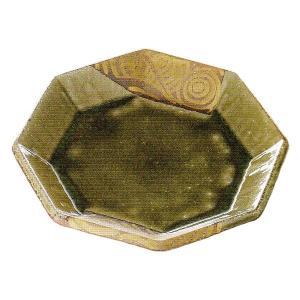中皿 和皿 織部金渦 八角7.5皿 22.5cm おしゃれ 和食器 業務用 美濃焼 9b194-08