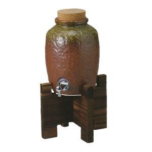 焼酎サーバー 木台付 1升 伊賀風 酒器 美濃焼 業務用 6b283-07|shikisaionline