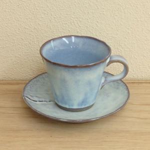 コーヒーカップソーサー 布目入うのふ 土物 和陶器 美濃焼 業務用 6b482-07