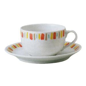 色柄がとれにくいイングレ手法で焼かれた紅茶カップとソーサーです。  サイズ:W8.9×H5.7cm/...