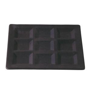 9仕切プレート ナイン 黒 強化磁器 業務用 美濃焼 9b457-07