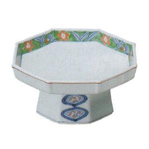 縁に花が描かれ、高台の形に品格を感じる八角の刺身皿です。お揃いの醤油小皿もご用意しています。  【サ...