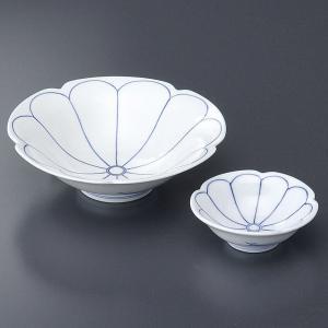 刺身皿と醤油小皿のセット 菊割 和食器 業務用 有田焼 9d49421-22|shikisaionline