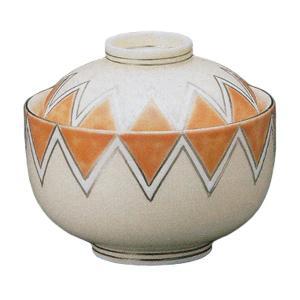 煮物碗 蓋付き オレンジ剣先濃 蓋物 和食器 業務用 有田焼 9d49427-718|shikisaionline