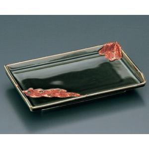 織部焼の独特な存在感が表現された焼物皿です。焼物や寿司などを美しく盛り付けできる和食器です。  【サ...