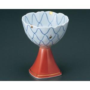 小鉢 高台 金箔アミ絵赤吹 有田焼 和食器 業務用 9d49802-718 shikisaionline