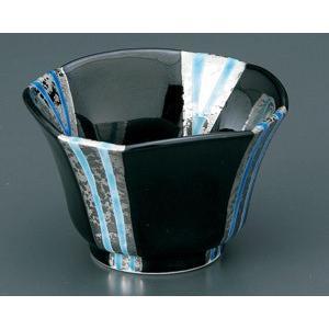 小鉢 プラチナブルー流水黒釉 ボウル おしゃれ 有田焼 和食器 業務用 9d49809-718|shikisaionline
