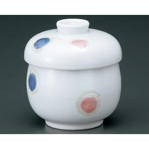 茶碗蒸し 白磁紅彩シャボン おしゃれ 和食器 業務用 有田焼 9d49903-718 shikisaionline