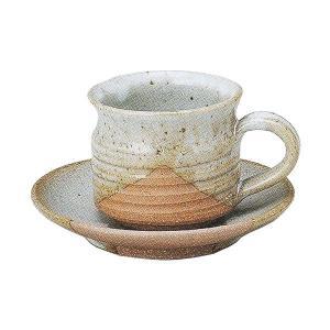コーヒーカップ ソーサー 掛分け切立 和陶器 おしゃれ 業務用 信楽焼 9d72842-668|shikisaionline