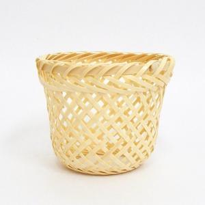 サイズ:約φ7.3×H6.3cm 材 質:竹製品 製造国:日本製  ※編み込み品のため、サイズにばら...