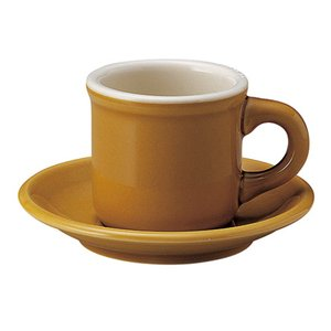 コーヒーカップソーサー アンバー 琥珀色 カントリーサイド 厚口 洋食器 美濃焼