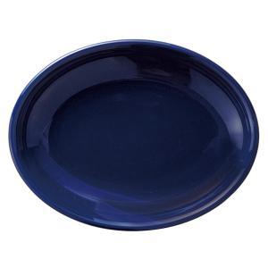 大皿 オーバルプラター 28.5cm 楕円皿 サファイア おしゃれ カントリーサイド 業務用 美濃焼