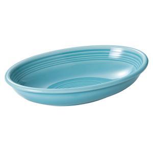 大皿 楕円皿 27cmベーカー カレー皿 ターコイズブルー オービット おしゃれ カフェ 洋食器 業...