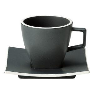 コーヒーカップ ソーサー 黒 カーボンブラック カルマ おしゃれ 洋食器 業務用 美濃焼 shikisaionline