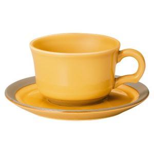 ティーカップ ソーサー ハニーアンバー カントリーサイド おしゃれ 洋食器 業務用 美濃焼|shikisaionline