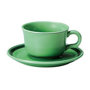 ティーカップソーサー フォレストグリーン 洋食器 美濃焼 業務用|shikisaionline