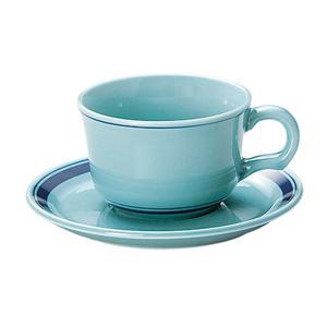 ティーカップソーサー オーシャンブルー 洋食器 美濃焼 業務用|shikisaionline