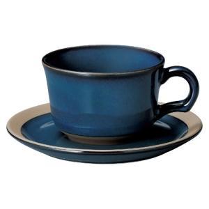 ティーカップ ソーサー レイクブルー カントリーサイド おしゃれ 洋食器 業務用 美濃焼|shikisaionline
