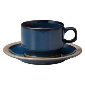 コーヒーカップ ソーサー 高台スタック レイクブルー カントリーサイド おしゃれ 洋食器 業務用 美濃焼 shikisaionline