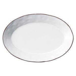 中皿 楕円皿 26cmプラター スモークホワイト ラフェルム アンティーク調 おしゃれ 洋食器 業務...