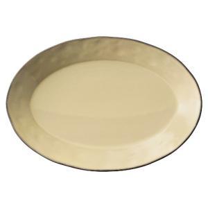 大皿 楕円皿 26cmプラター シナモンベージュ ラフェルム アンティーク調 洋食器 おしゃれ 業務...