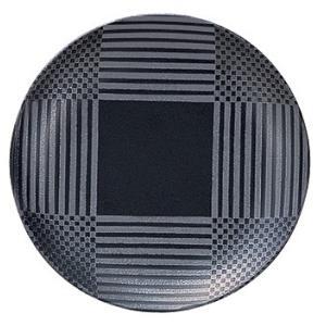 中皿 19cm クープ皿 丸皿 黒 ナイトビュー おしゃれ 業務用 洋食器 美濃焼 在庫限り