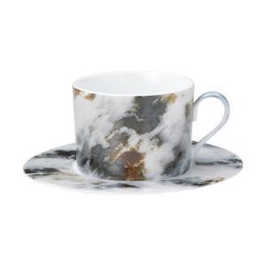 ティーカップ ソーサー マーブル マルキーナ 業務用 カフェ 食器 美濃焼|shikisaionline