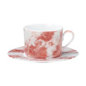 ティーカップ ソーサー マーブル ローズオニックス 業務用 カフェ 食器 美濃焼|shikisaionline