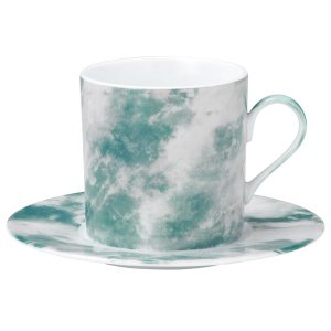 コーヒーカップソーサー マーブル グリーンオニックス カフェ 食器 業務用 shikisaionline