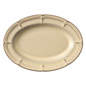 中皿 楕円皿 25cm オーバルプラター ラフィネ シナモンベージュ アンティーク調 洋食器 業務用...