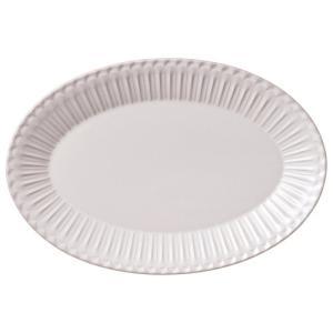 大皿 楕円皿 31.5cmプラター ラスティクホワイト ストーリア おしゃれ 洋食器 業務用 美濃焼|shikisaionline