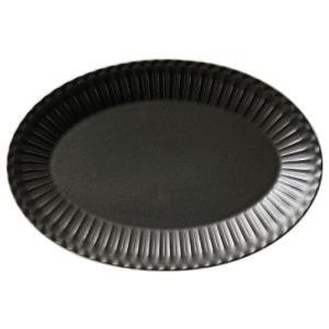 大皿 楕円皿 31.5cmプラター クリスタルブラック ストーリア おしゃれ 洋食器 業務用 美濃焼