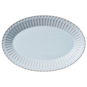 大皿 楕円皿 31.5cmプラター ブルーグレー ストーリア おしゃれ 洋食器 業務用 美濃焼|shikisaionline
