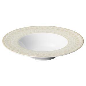 パスタ皿 24cm ディープスープボウル くぼみ ベージュ リカーモ 洋食器 美濃焼 在庫限り