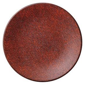 大皿 30.5cm丸皿 あかねおどし 赤 おしゃれ 和食器 業務用 美濃焼 shikisaionline