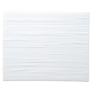 32cmプレート 線紋平長角皿 ピュアホワイト ジャパニーズモダン おしゃれ 業務用 和食器 shikisaionline